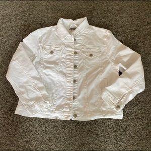 white denim jacket size L